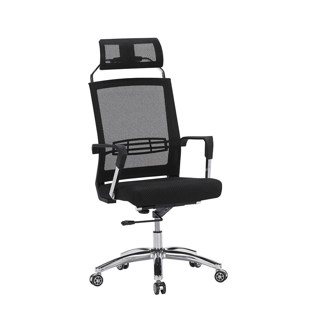 高背黑網辦公椅