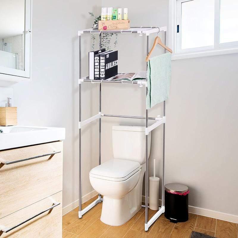 不鏽鋼馬桶架 /洗衣機架(可調寬度) 039028-01