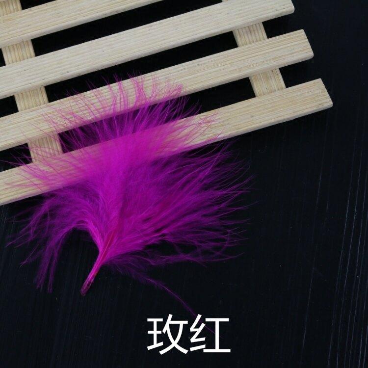 18色diy飾品配件羽毛絨毛血管火雞毛芭比娃娃裝飾材料50根