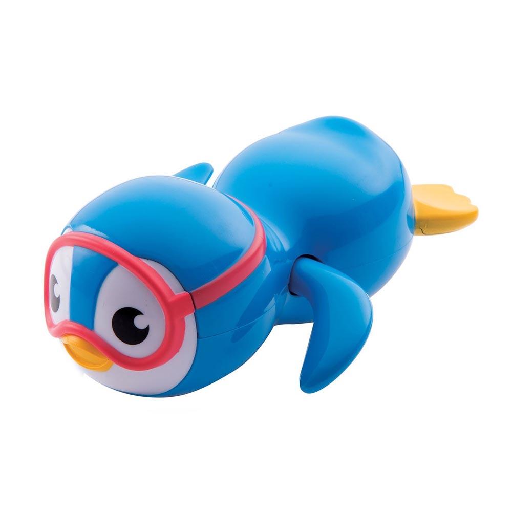 munchkin滿趣健-游泳企鵝洗澡玩具-藍