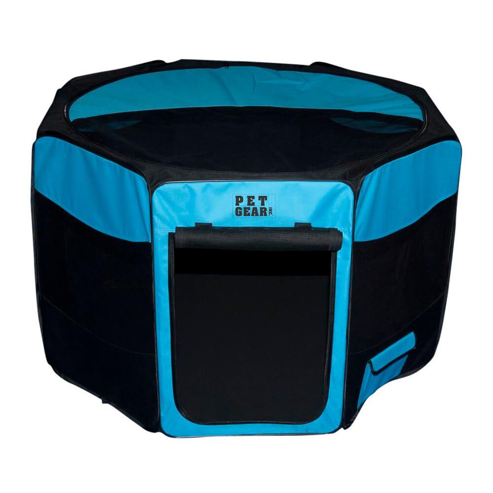 美國 pet gear 八角折疊寵物籠(土耳其藍)中(82050587