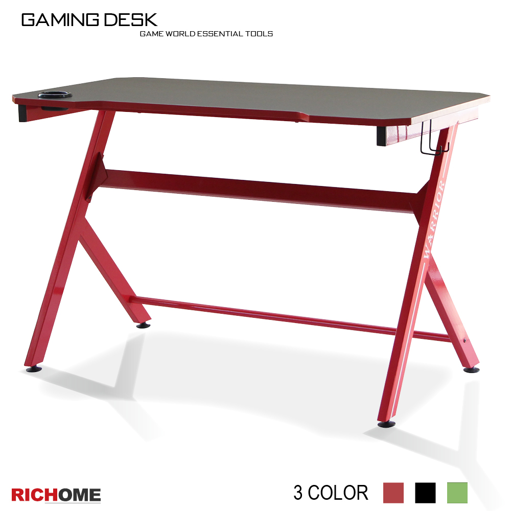 【RICHOME】電競玩家電腦桌(3色)