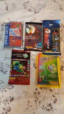 (1992年-2006年 混合足球卡/不同廠牌和系列共有20原封包) PANINI, Score, UD, FUTERA