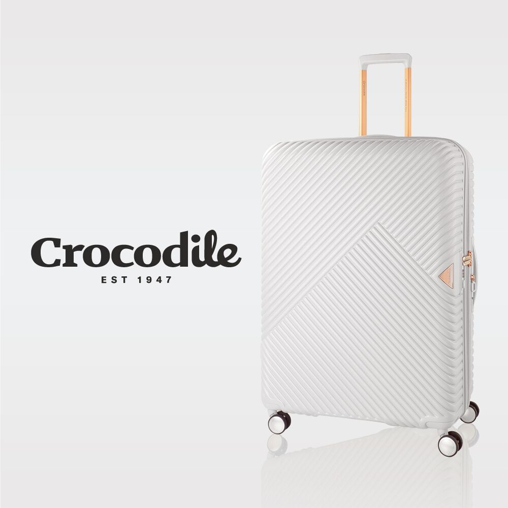 【Crocodile】Crocodile 100%PC霧面拉鍊箱含TSA鎖-28吋-0111-07728