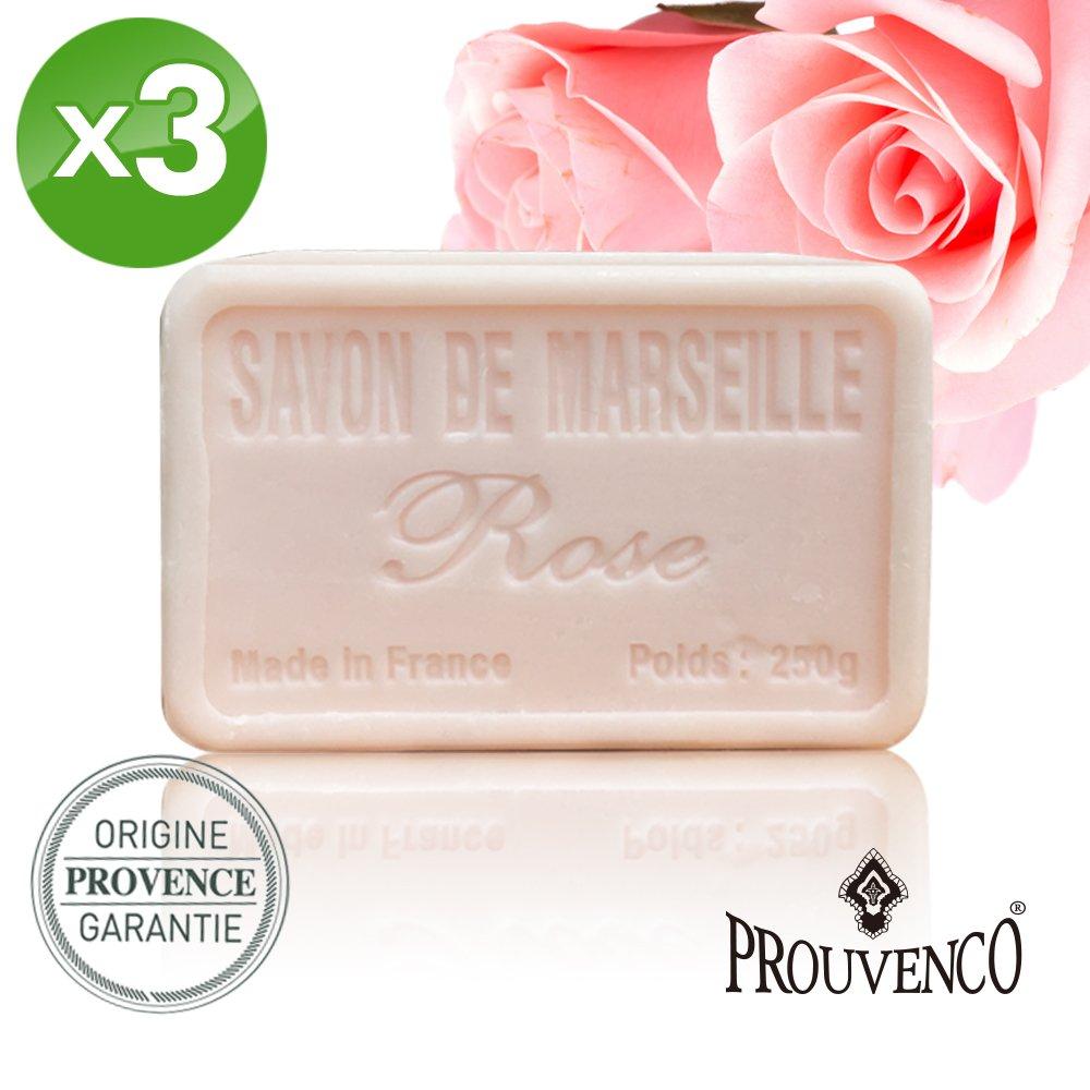 【PROUVENCO】法國原裝香氛馬賽皂-玫瑰(250gx3)