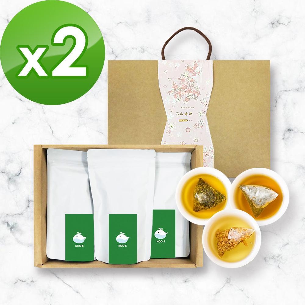 KOOS-綜合口味-蕎麥茶+桂花烏龍+金萱烏龍-禮盒組2盒(3袋1盒)