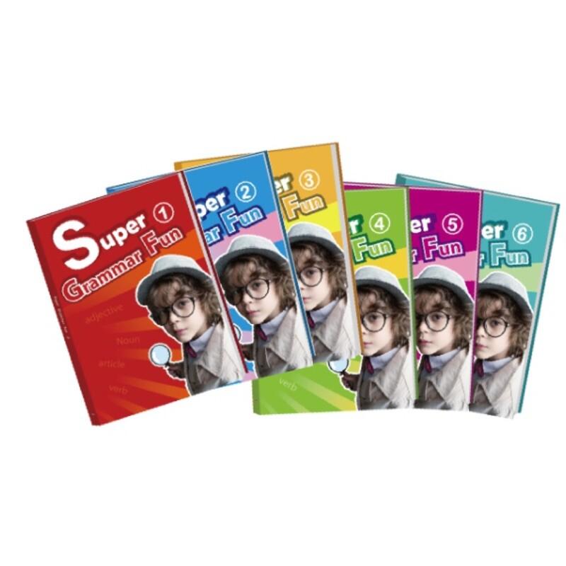 super grammar fun系列共有六冊適合小學階段使用之文法書 - 1-6全套