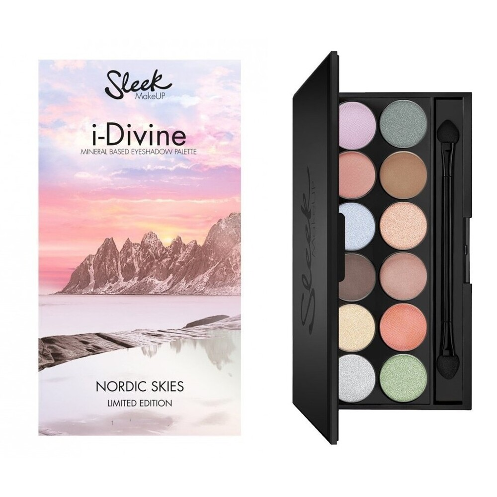 愛來客 新款 英國sleek專業彩妝12色礦物眼影盤 nordic skies #809 - #
