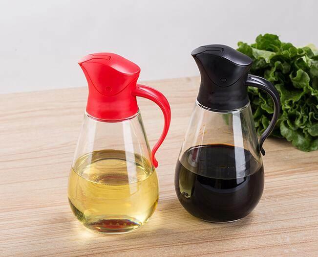油壺 玻璃油瓶油壺油罐醬油瓶醋壺家用防香油瓶漏調味料瓶廚房用品大號【】