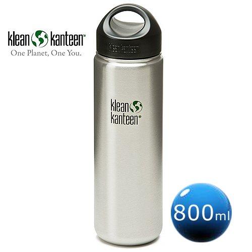 美國Klean Kanteen寬口冷水瓶800ml-原鋼色