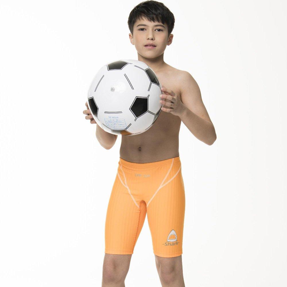 【SAIN SOU】兒童七分競泳泳褲加贈矽膠泳帽A67801-10
