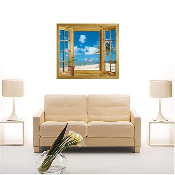 *限宅配*居家寶盒yv0676diy時尚裝飾組合可移動壁貼 牆貼 壁貼 創意壁貼 風景窗 jm8