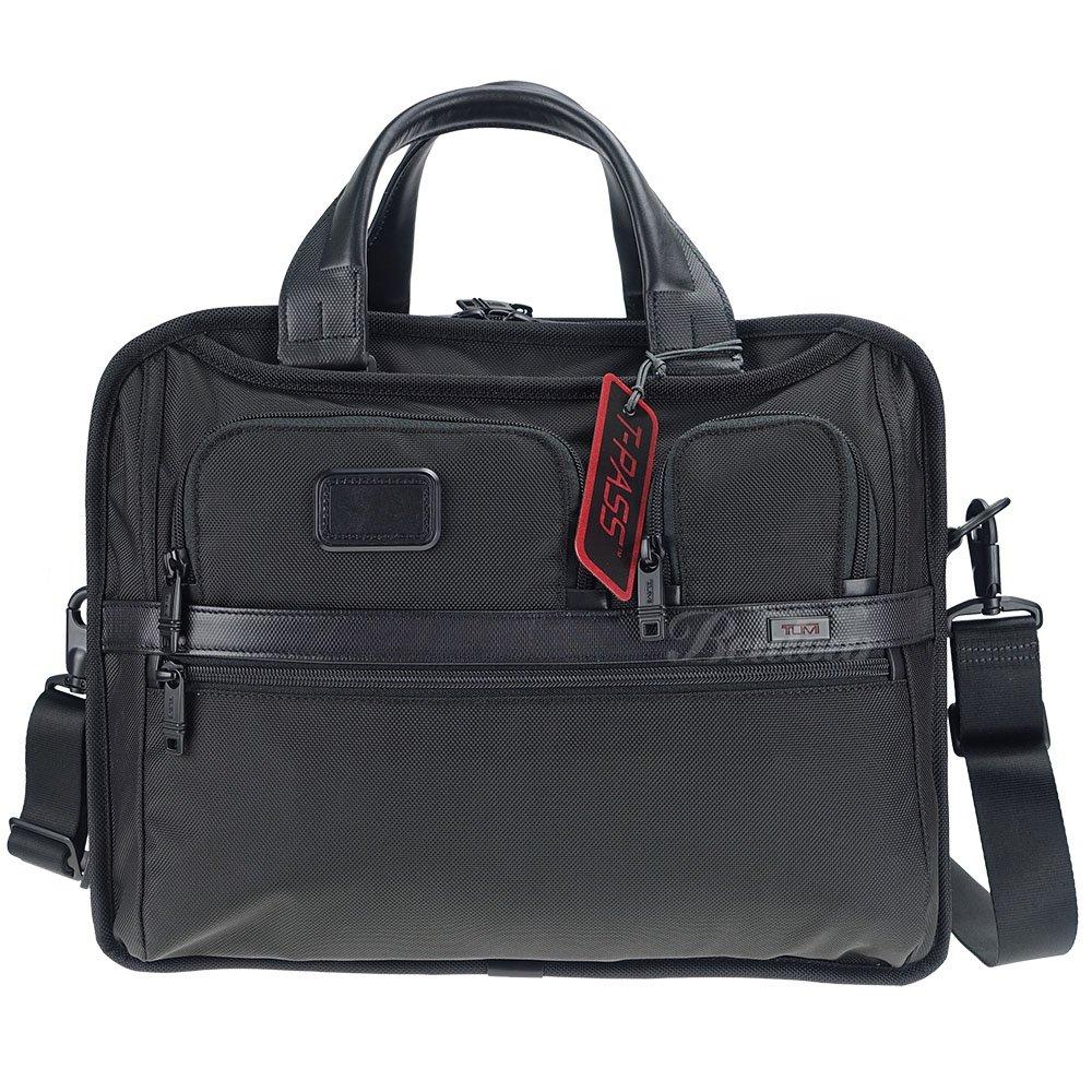 【TUMI】Alpha 2 系列 男士商務T-PASS 15吋可擴充筆電公事包 T-Pass Expandable Laptop Brief (黑)