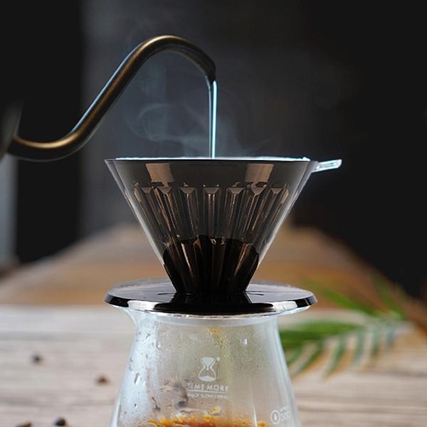 TIMEMORE(黑色限量版)泰摩冰瞳手沖咖啡濾杯01號-(1~2人份)送10張濾紙