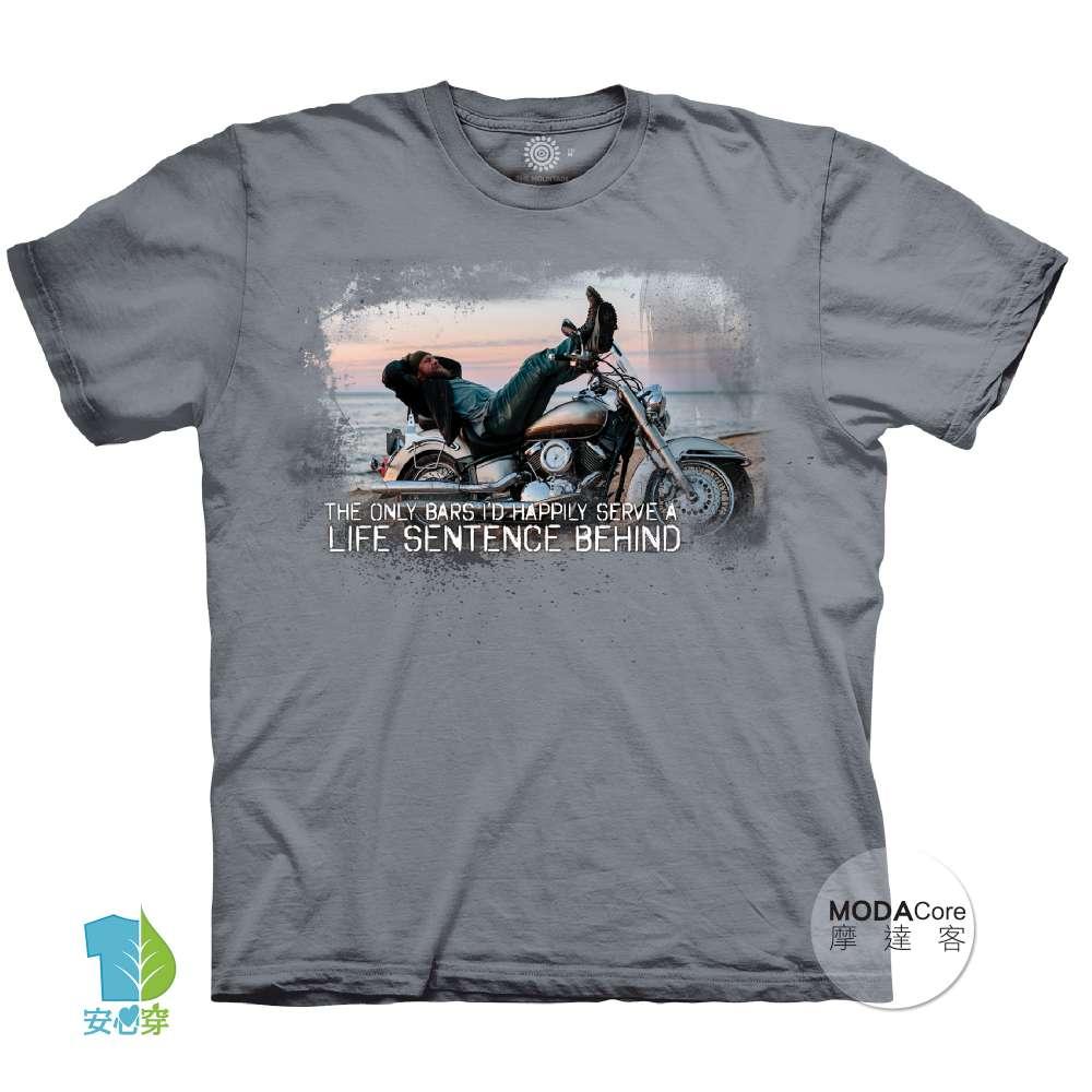 摩達客-(預購)美國進口The Mountain重機人生 純棉環保藝術中性短袖T恤-大尺碼