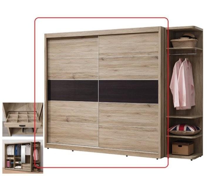 新精品ef-38-2 建霖橡木色 7x7尺衣櫃 (不含其它商品) 台北到高雄滿三千搭配車趟免運