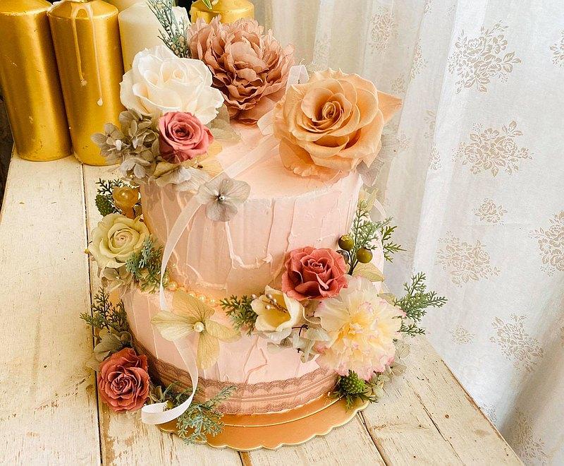 客製化永生花蛋糕擺飾