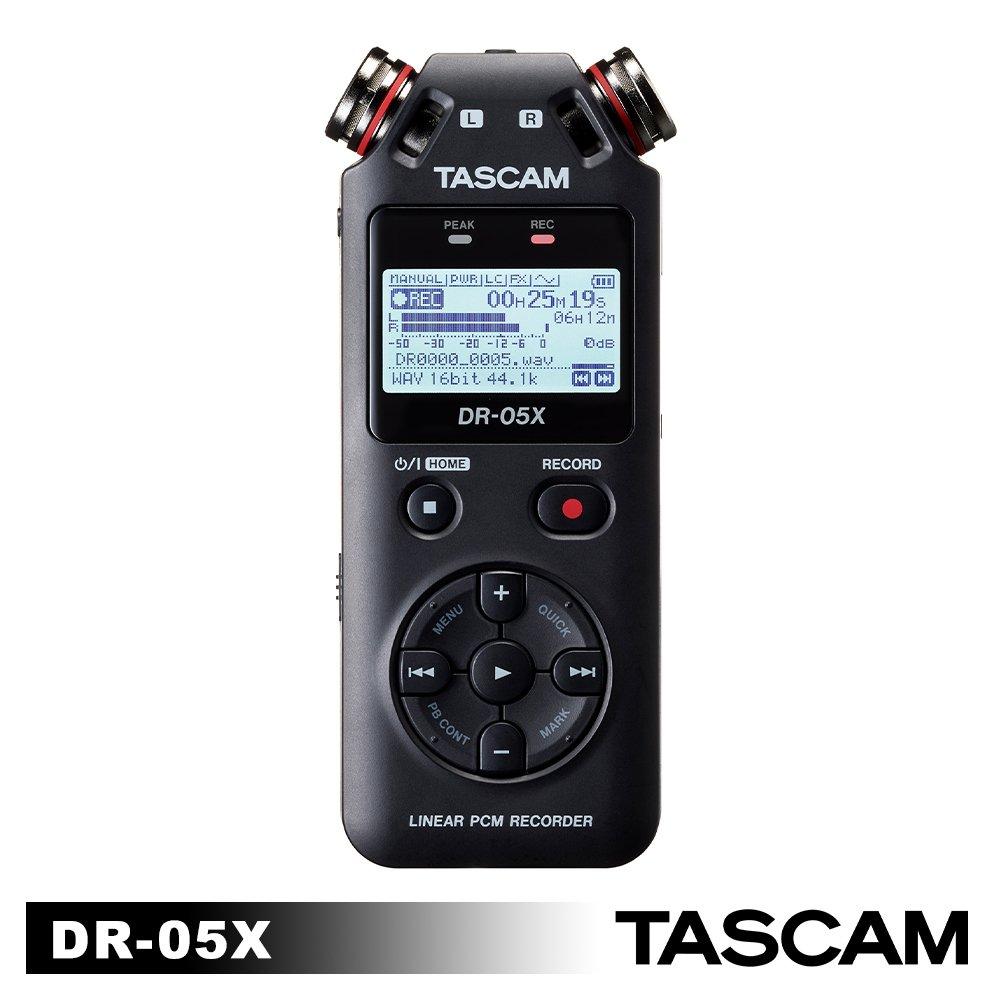 (福利品)TASCAM 攜帶型數位錄音機 DR-05X