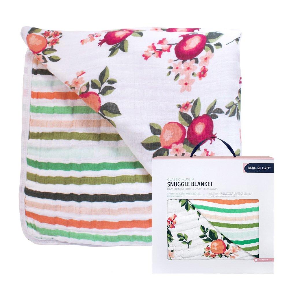 美國 Bebe Au Lait 經典棉紗被禮盒 (加州花果)