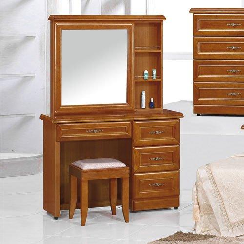 【時尚屋】[UZ6]施勝發3.5尺正樟木化妝台-含椅子UZ6-23-7
