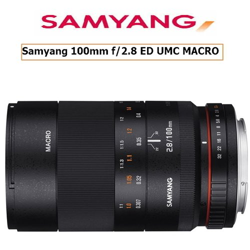SAMYANG 100mm f/2.8 ED MACRO手動鏡  FOR CANON (公司貨)