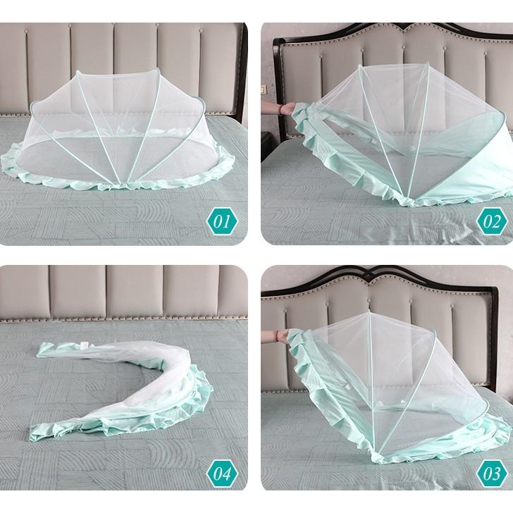 嬰兒床蚊帳全罩式通用兒童寶寶紋帳新生兒防蚊罩小孩蒙古包可折疊