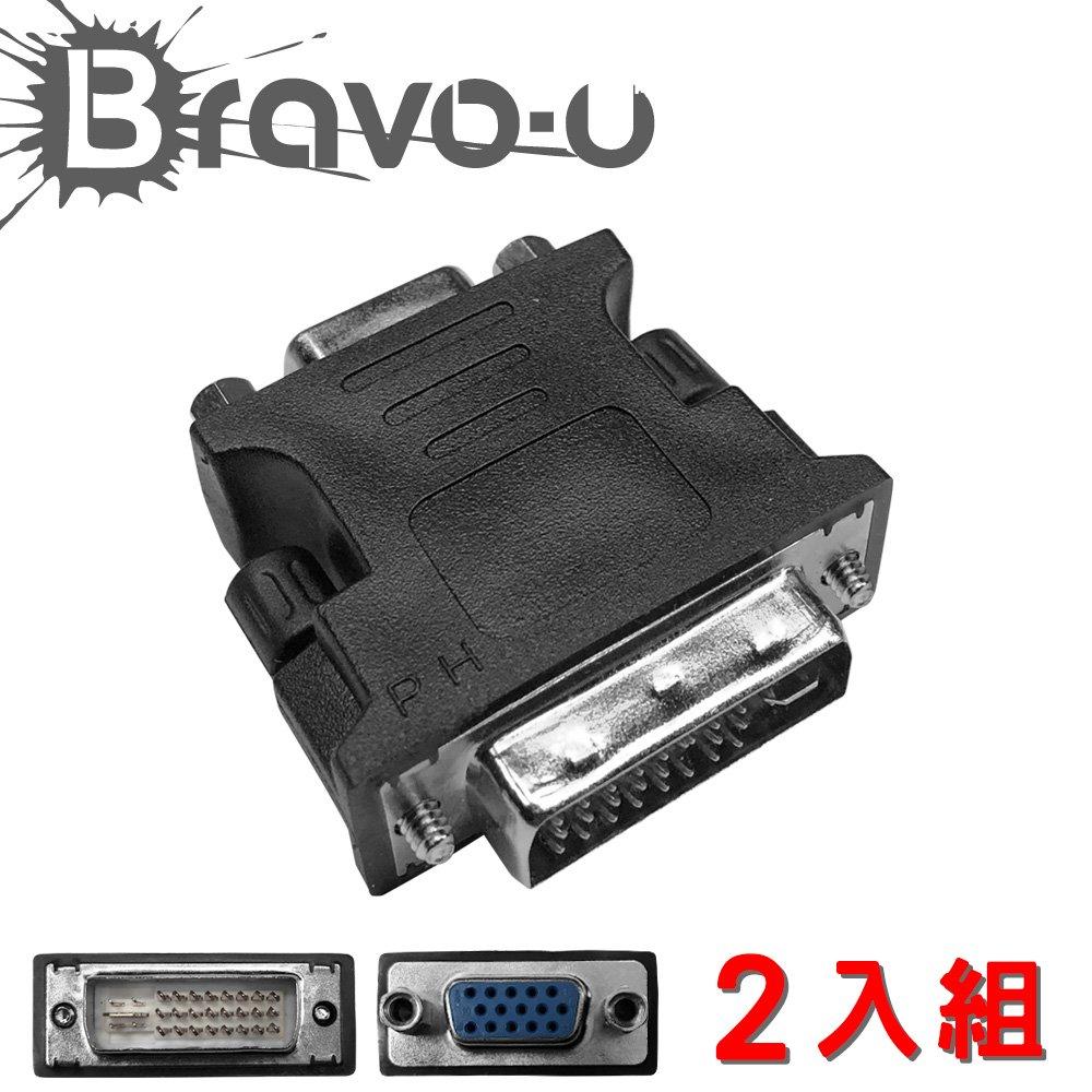 (2入組)Bravo-u VGA to DVI 轉接頭