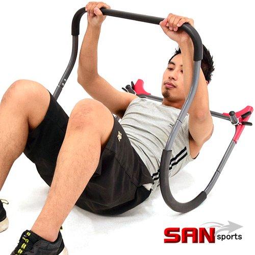 【SAN SPORTS 山司伯特】驚猛複合式健腹機(擴充版)5五分鐘仰臥起坐板.伏地挺身器
