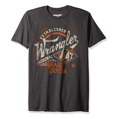 Wrangler 2017男時尚藍哥標誌款碳黑色圓領短袖ㄒ恤【預購】
