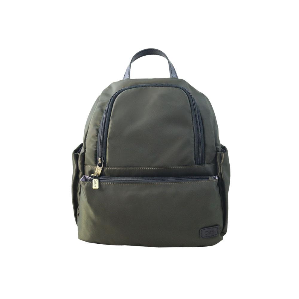 SIKA防水布多隔層後背包-B6200-08軍綠色