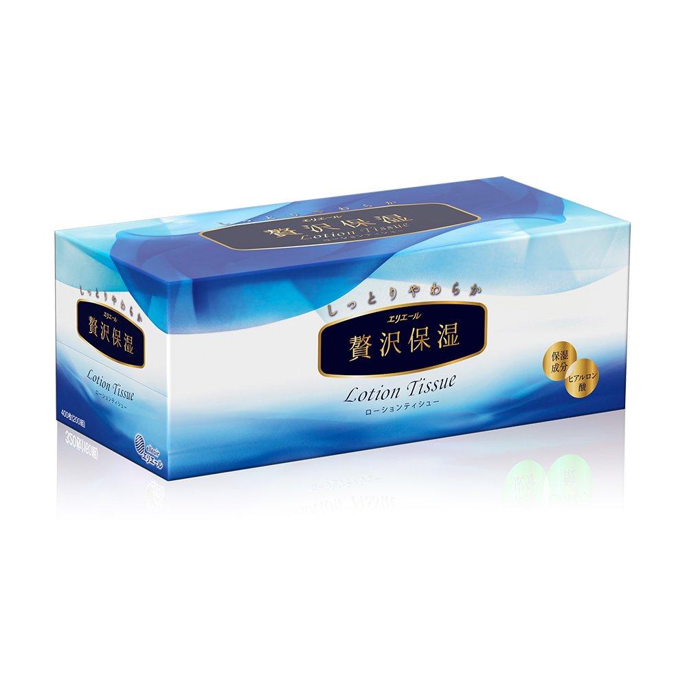 日本大王elleair 奢侈保濕柔霜面紙(200抽/盒)x12盒(箱購)