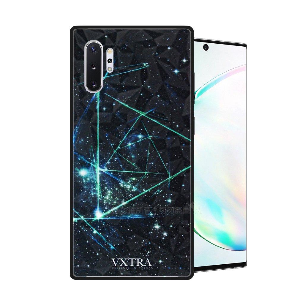 VXTRA 三星 Samsung Galaxy Note10+ 鑽石紋防滑全包保護殼(科幻元素) 有吊飾孔