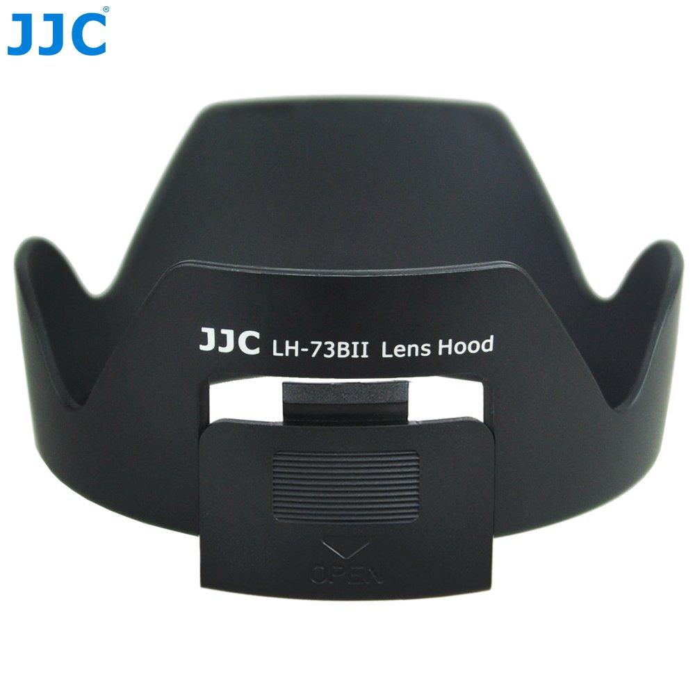 JJC Canon蓮花遮光罩LH-73BII可反扣EW-73BII(有開口開窗方便轉CPL偏光鏡)18-135mm f/3.5-5.6 17-85mm