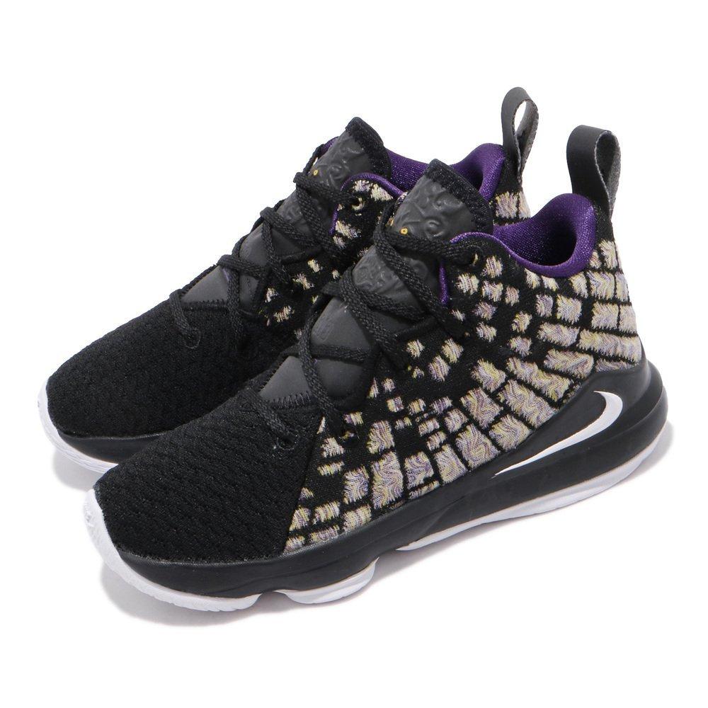 NIKE 籃球鞋 LeBron XVII 運動 童鞋 明星款 LBJ 避震 包覆 反光 中童 黑 黃 [BQ5595-004]