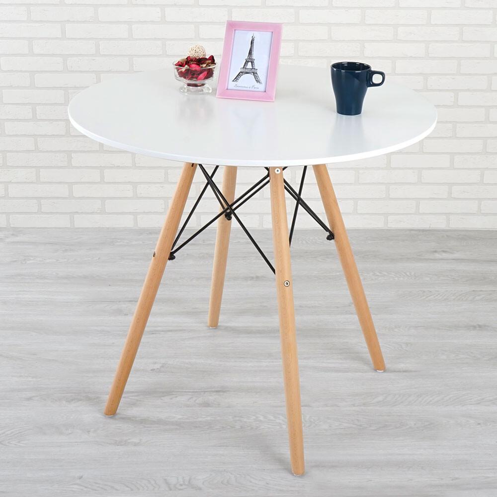 yostyle 菲爾造型圓桌(亮麗白) 桌子  咖啡桌 餐桌 小吃店 咖啡廳 接待桌