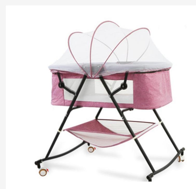 新生兒嬰兒床多功能哄娃便攜式寶寶搖床 可折疊歐式搖籃床嬰兒床