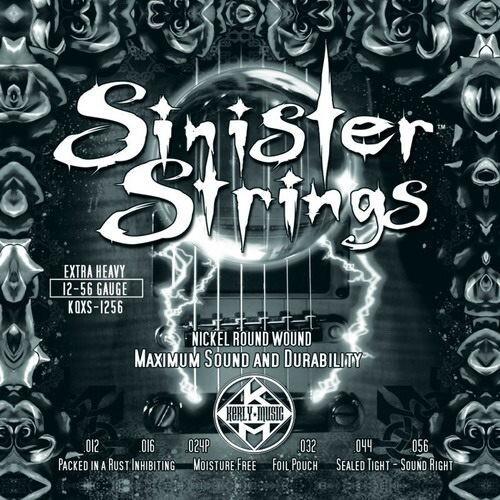 kerly strings sinister 系列冰火弦 kqxs-1256 (12-56) 美製電