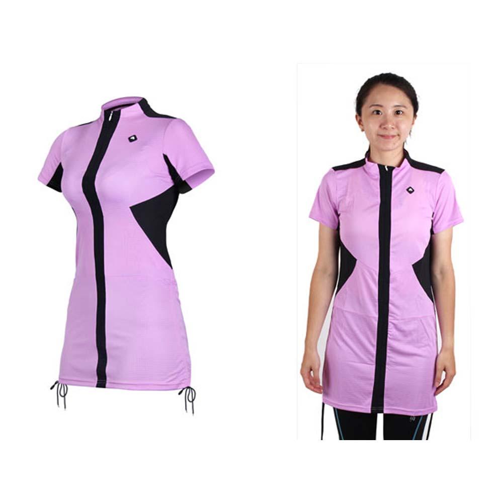 SOOMOM 女伊奧文連身裙-短袖車衣 單車 自行車 淺紫