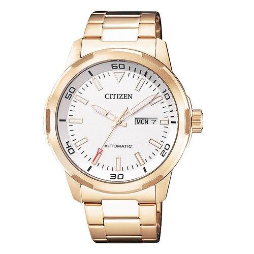 CITIZEN 星辰 顫慄機械自動鋼帶腕錶-玫瑰金色         NH8373-88A