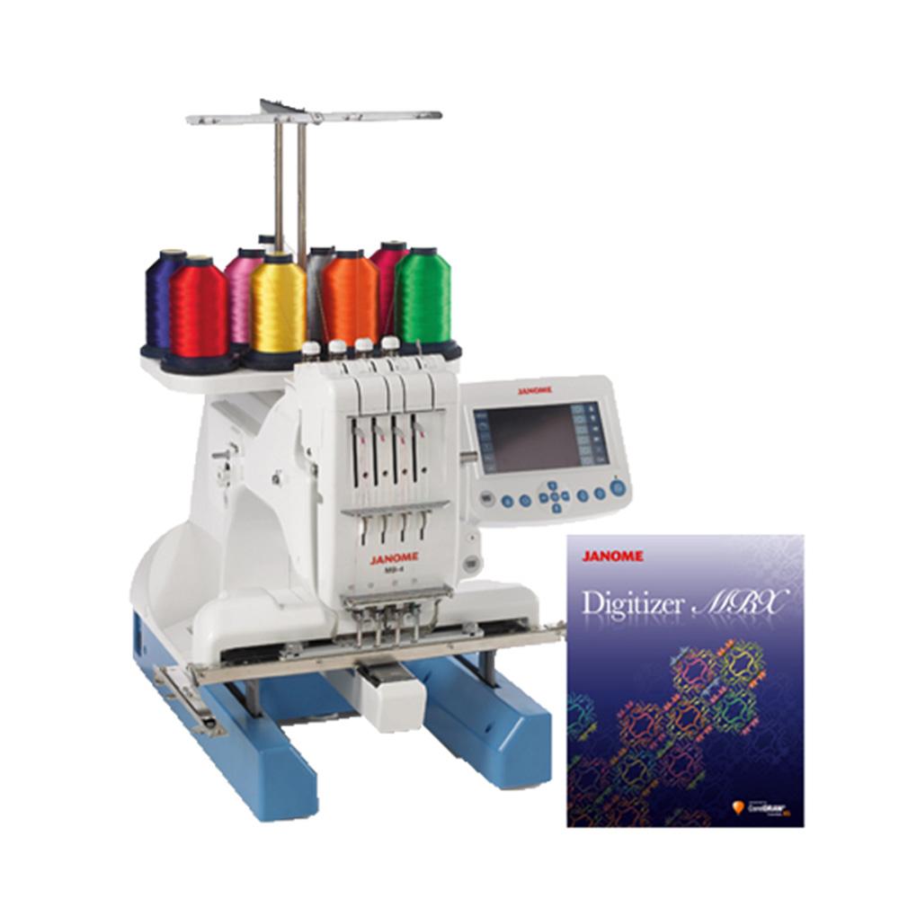 買一送一↘職業用刺繡機MB-4加送刺繡軟體組合(MB4D)