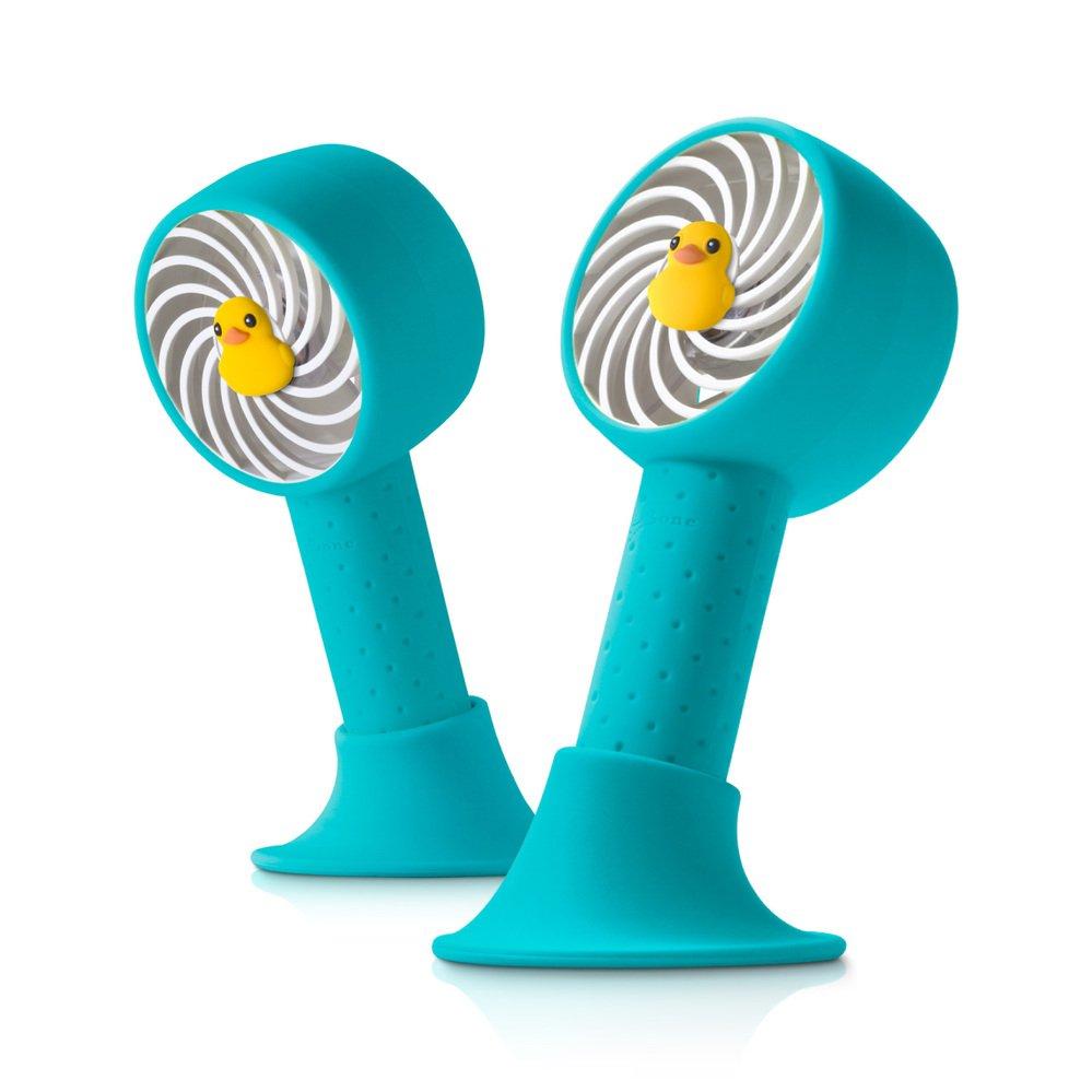 【Bone】頸掛桌立兩用風扇 手持風扇 USB頸掛雙用風扇-派提鴨