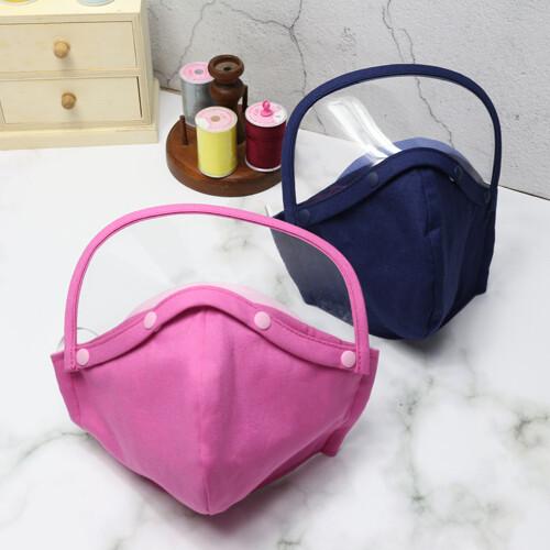機能性護目式純棉口罩 3層純手工製作 100%純棉口罩 8色 可拆可洗