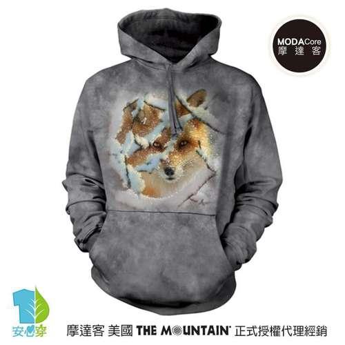 摩達客預購美國The Mountain狼迷藏  環保藝術長袖連帽T恤