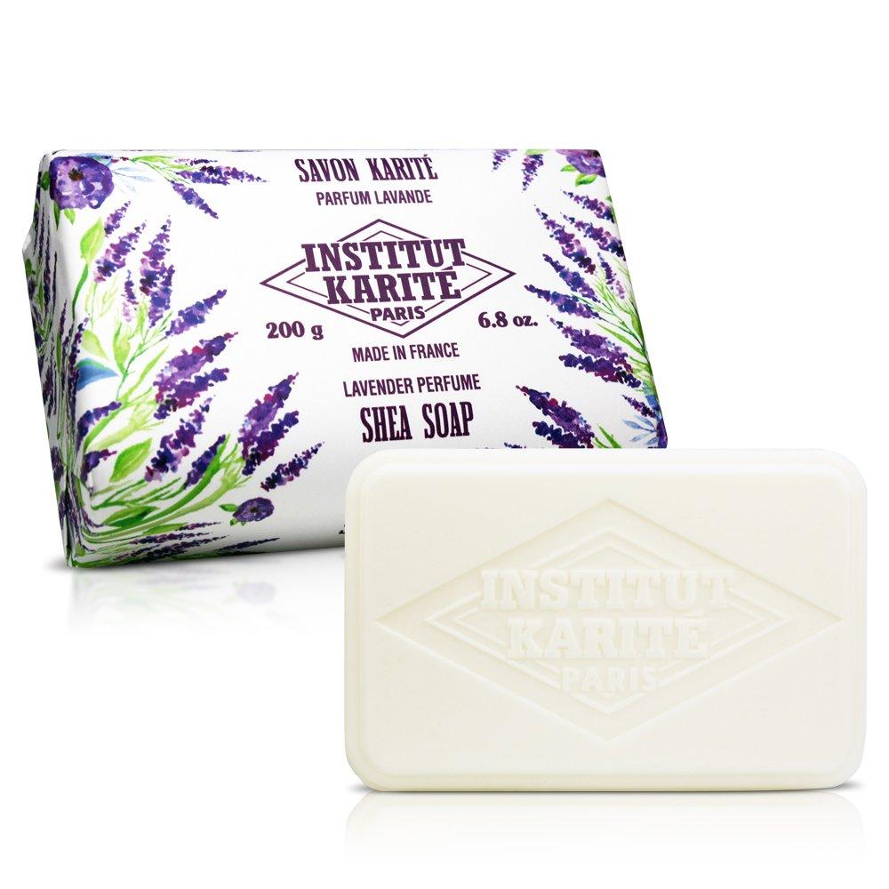 【任選】Institut Karite Paris 巴黎乳油木 薰衣草花園香氛手工皂(200g)