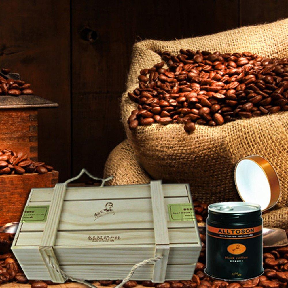 古坑【山海觀咖啡莊園】渥垛賞麝香蜜咖啡豆2組(150g/罐x3/禮盒)(附提袋)