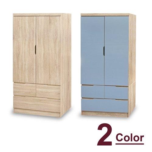 【時尚屋】[5U7]凱薩原切3x6尺衣櫥5U7-52-36二色可選/免運費