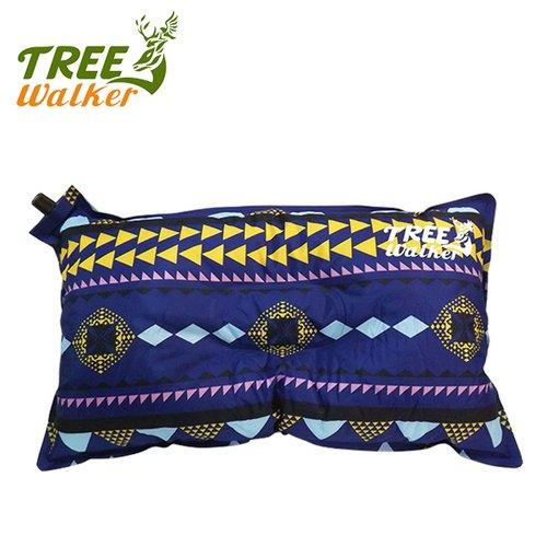 Tree Walker 花漾舒適自動充氣枕 圖騰紫