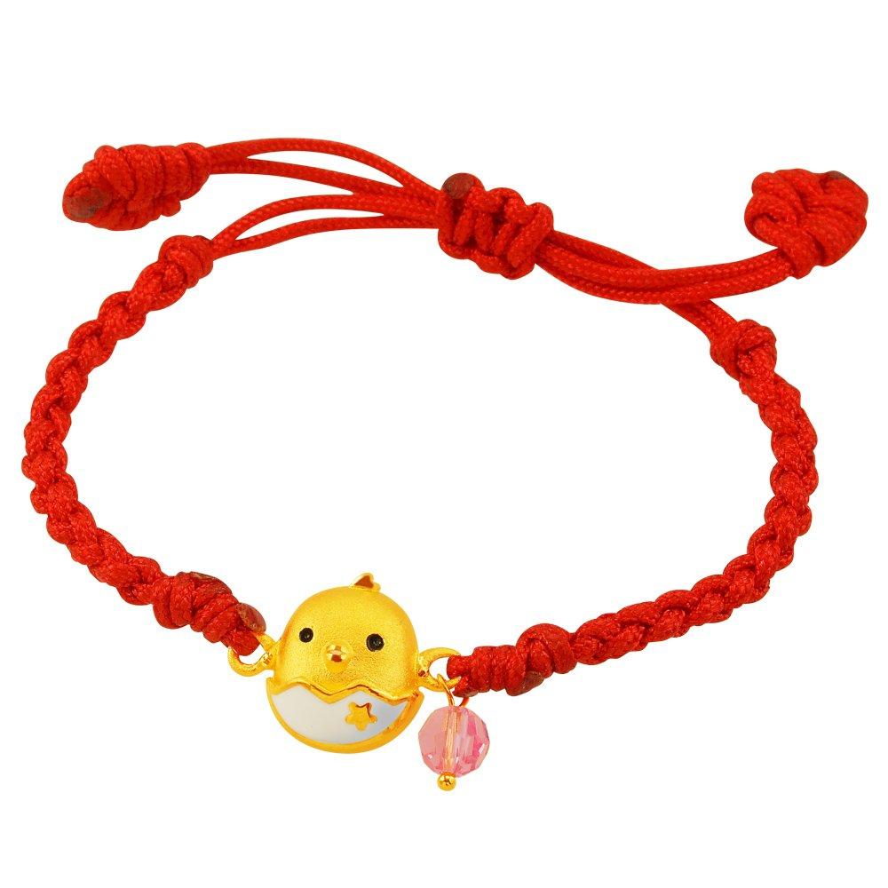 甜蜜約定金飾-寶貝蛋-黃金編織手鍊(兒童配戴)  彌月金飾 滿月禮  生肖