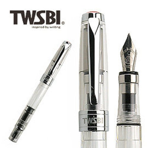 TWSBI 三文堂 鋼筆 鑽石 580 透明 B 尖