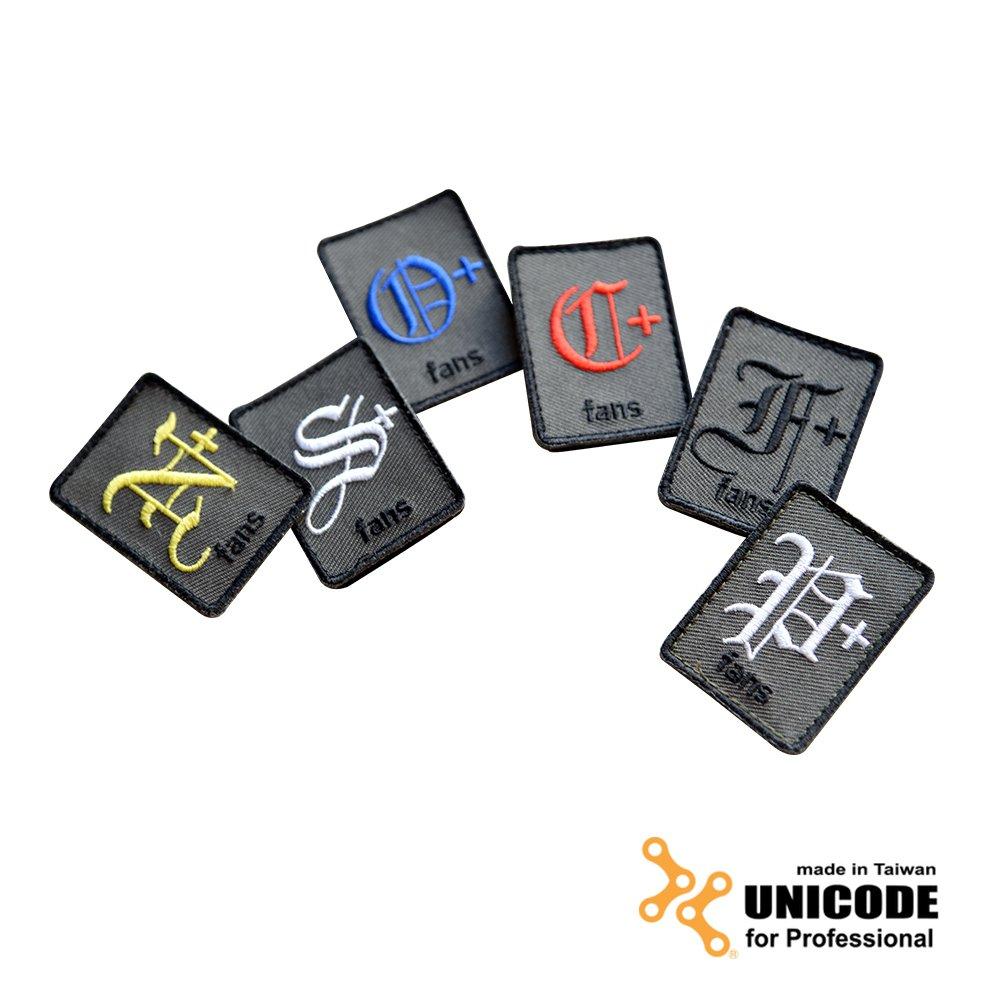 UNICODE Identify Patch 血型臂章(單片)